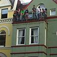 Gay pride parade watchers